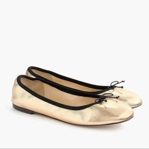 NWT J.Crew Evie BALLET FLATS In Gold
